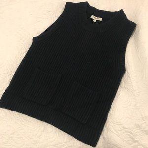 Dark navy blue Madewell sweater vest